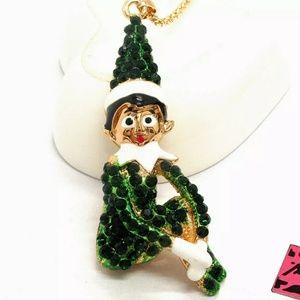 NWT Betsey Johnson Elf on Shelf Sweater Necklace